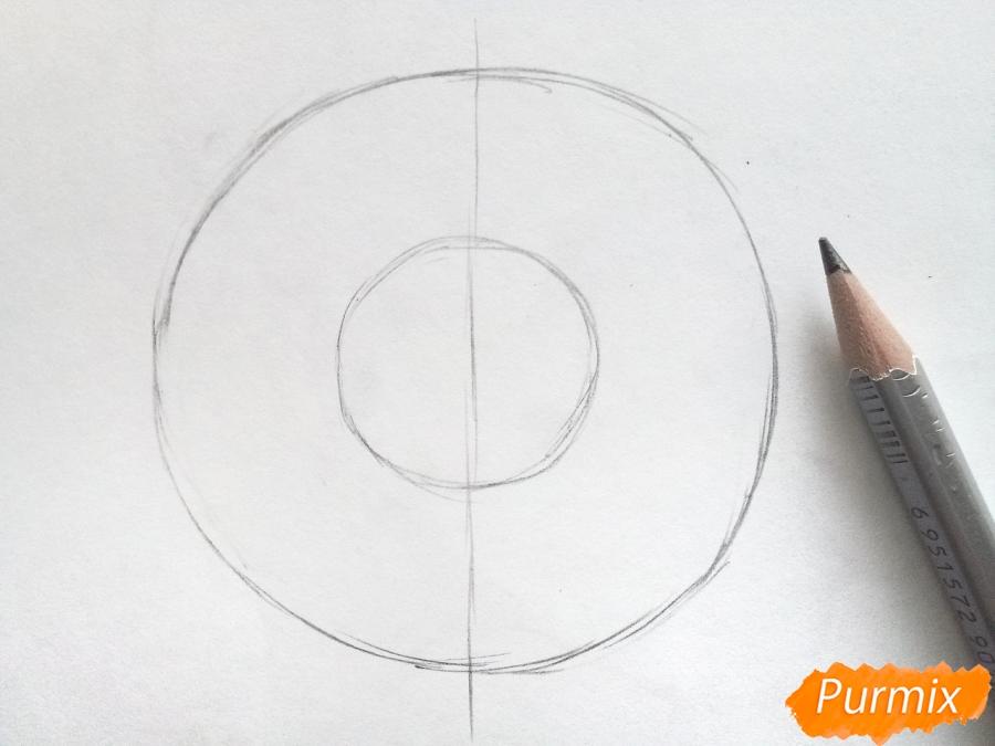 Рисуем большую снежинку - шаг 1