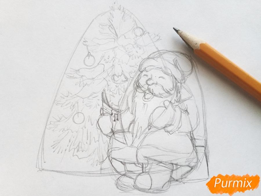 Рисуем Деда Мороза на Новый Год - шаг 5