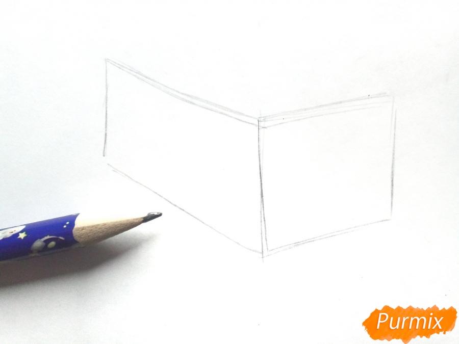Рисуем дом Деда Мороза - шаг 1