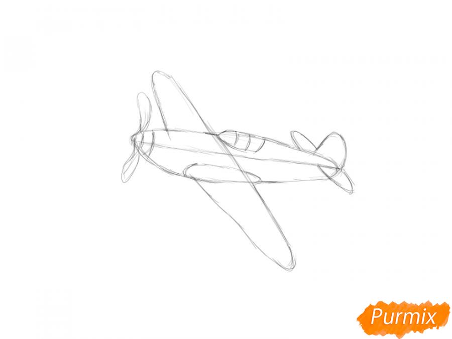 Рисуем два самолета к 9 мая - шаг 3