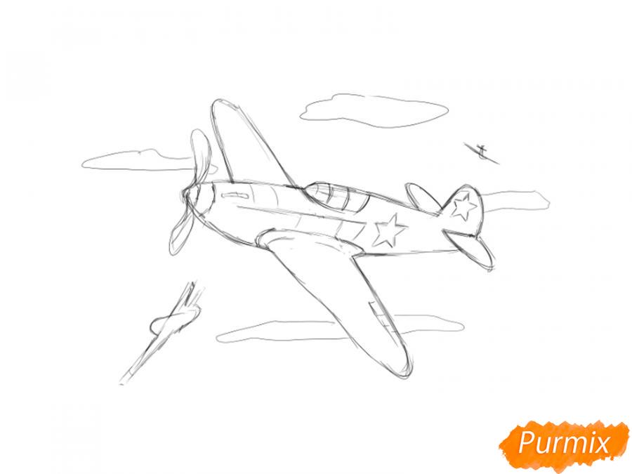Рисуем два самолета к 9 мая - шаг 5