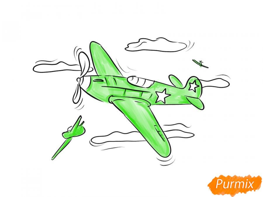 Рисуем два самолета к 9 мая - шаг 7