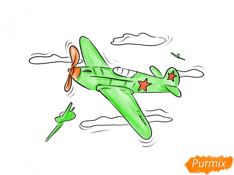 Рисуем два самолета к 9 мая - шаг 8