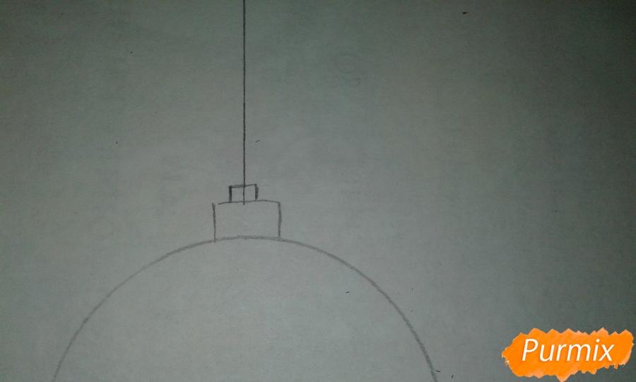 Рисуем ёлочные игрушки разных форм - шаг 2
