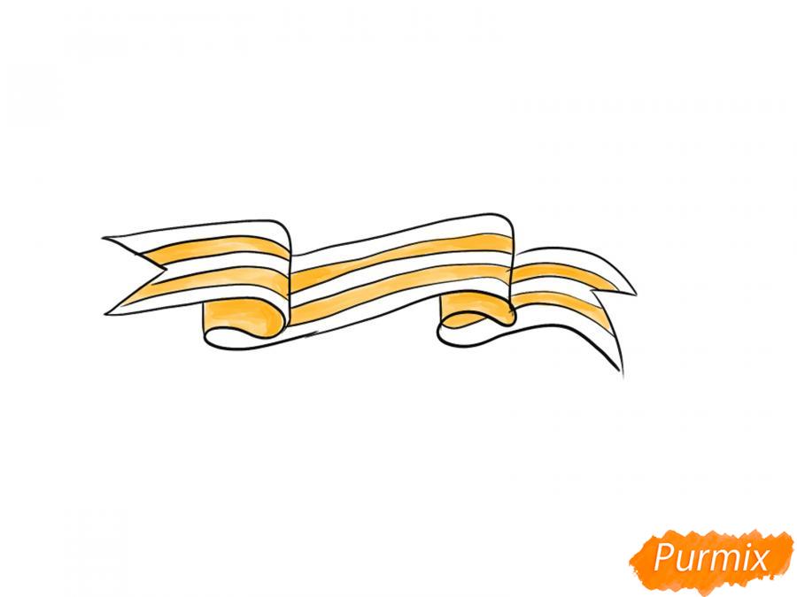 Рисуем Георгиевскую ленту  или акварелью - шаг 7