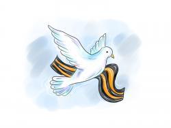 голубя на День Победы 9 мая