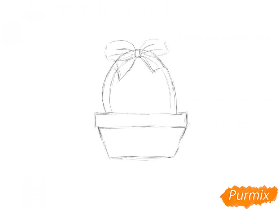 Рисуем корзину с пасками - шаг 2