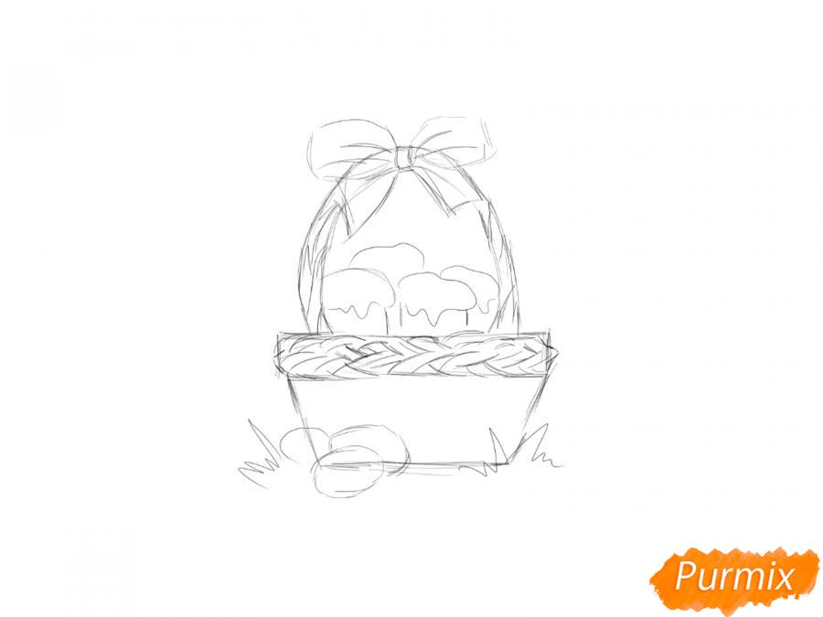 Рисуем корзину с пасками - шаг 3