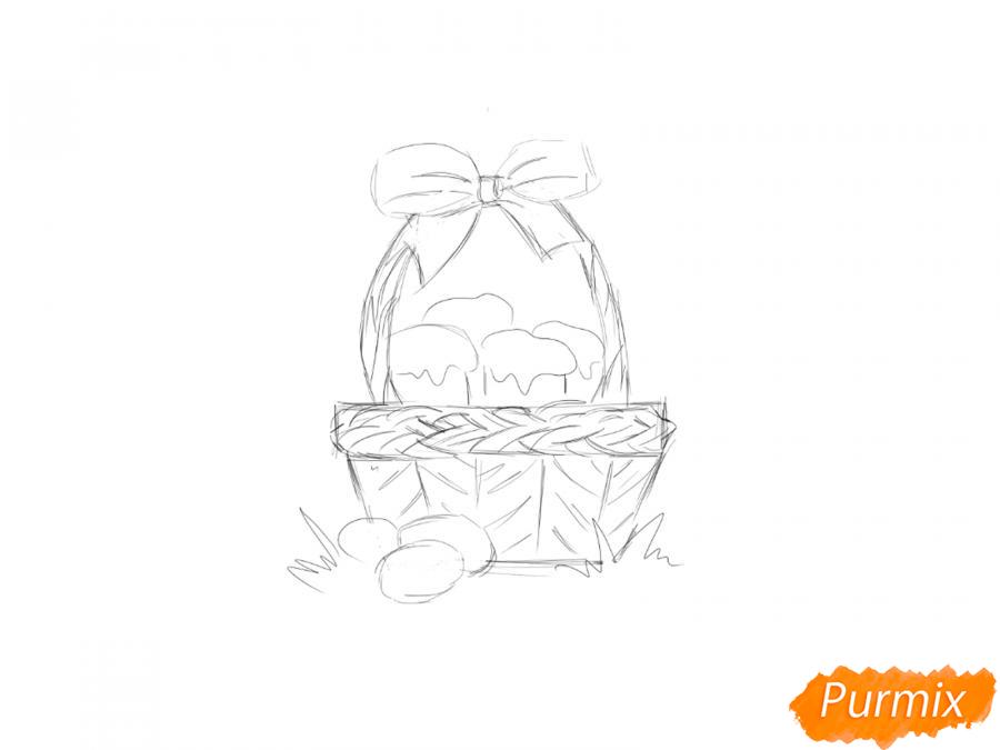 Рисуем корзину с пасками - шаг 4