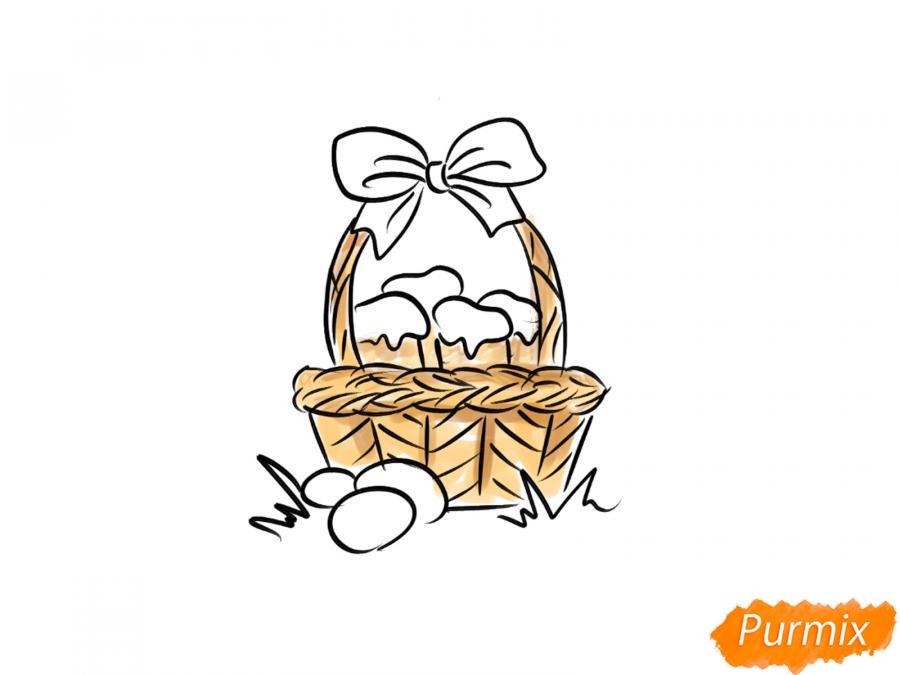 Рисуем корзину с пасками - шаг 6