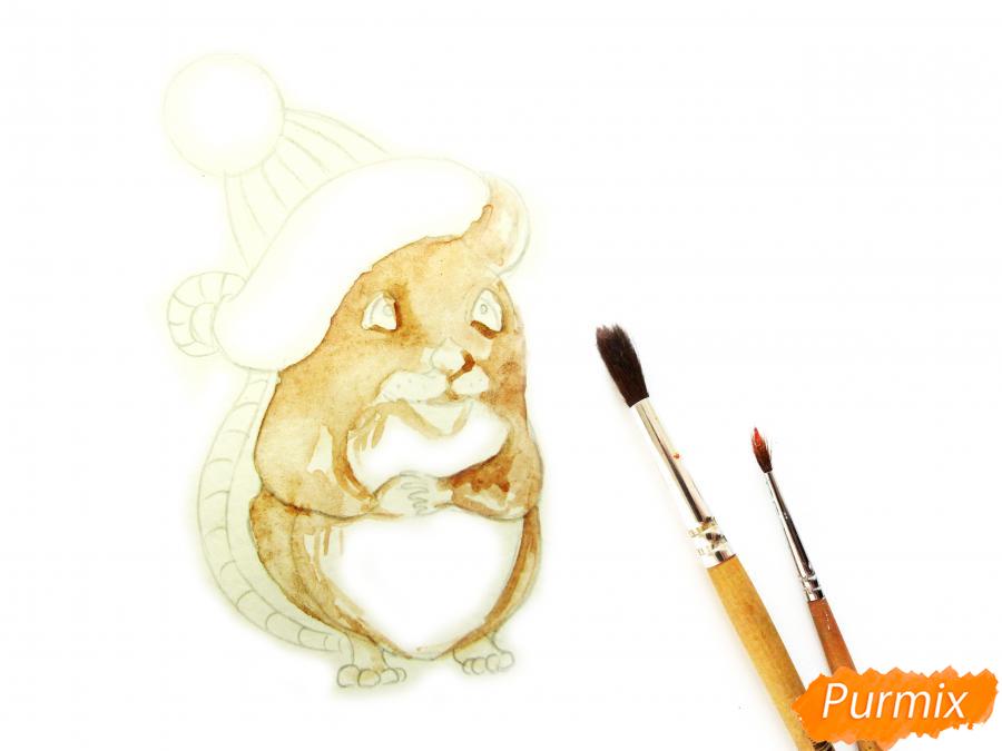 Рисуем крысу символ 2020 года карандашами - шаг 5