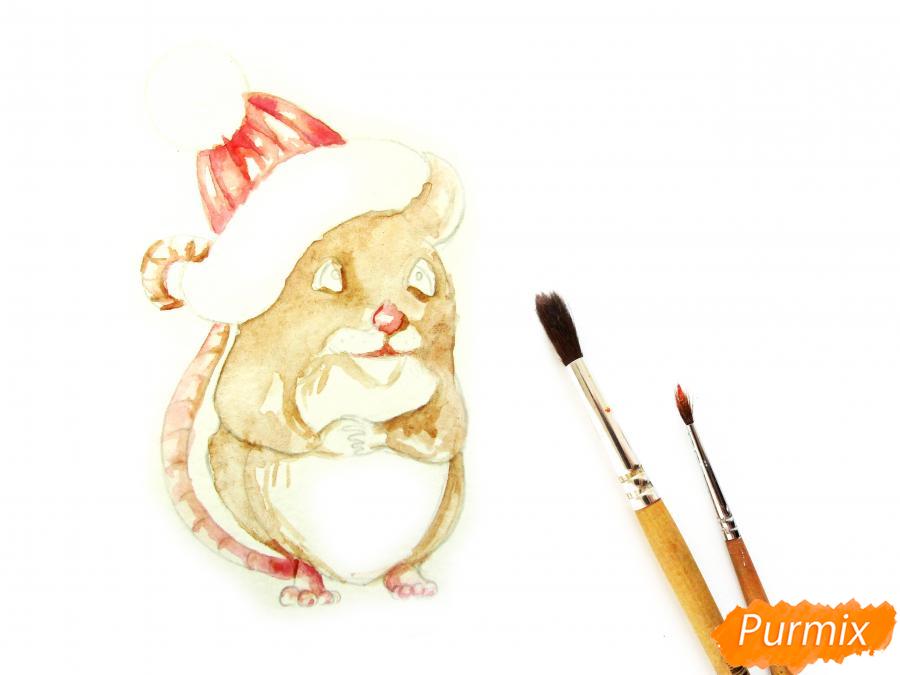 Рисуем крысу символ 2020 года карандашами - шаг 6
