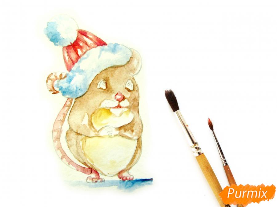 Рисуем крысу символ 2020 года карандашами - шаг 7