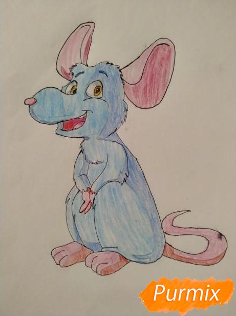 Рисуем крысу в честь 2020 года - шаг 6
