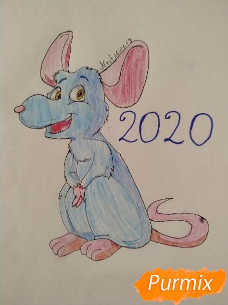 Рисуем крысу в честь 2020 года - шаг 7