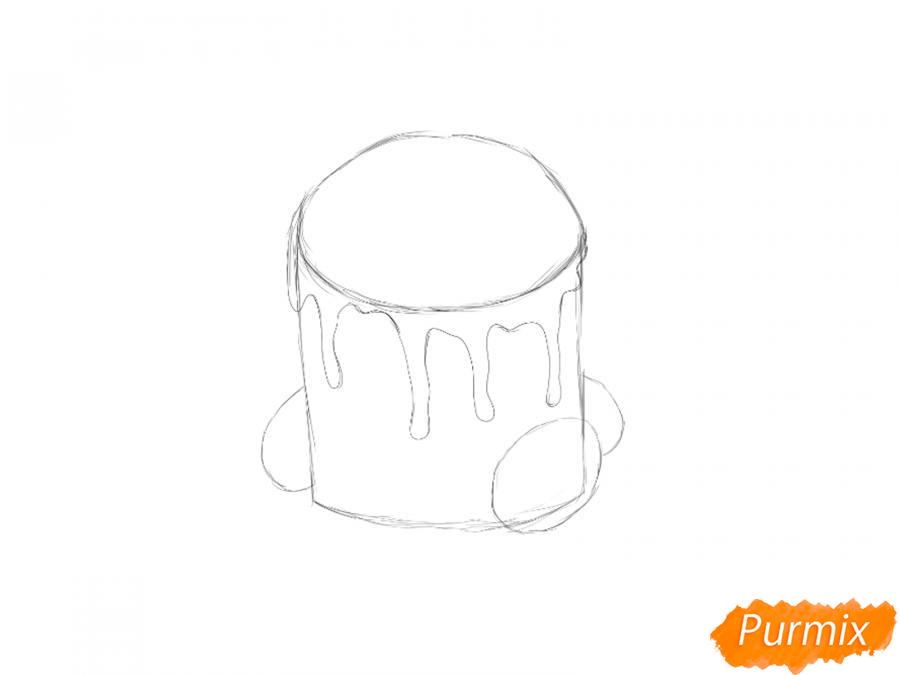 Рисуем кулич c цукатами на Пасху - шаг 2