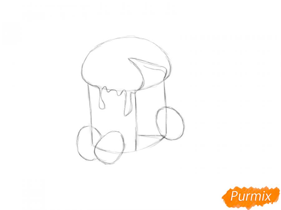 Рисуем кулич в разрезе - шаг 2