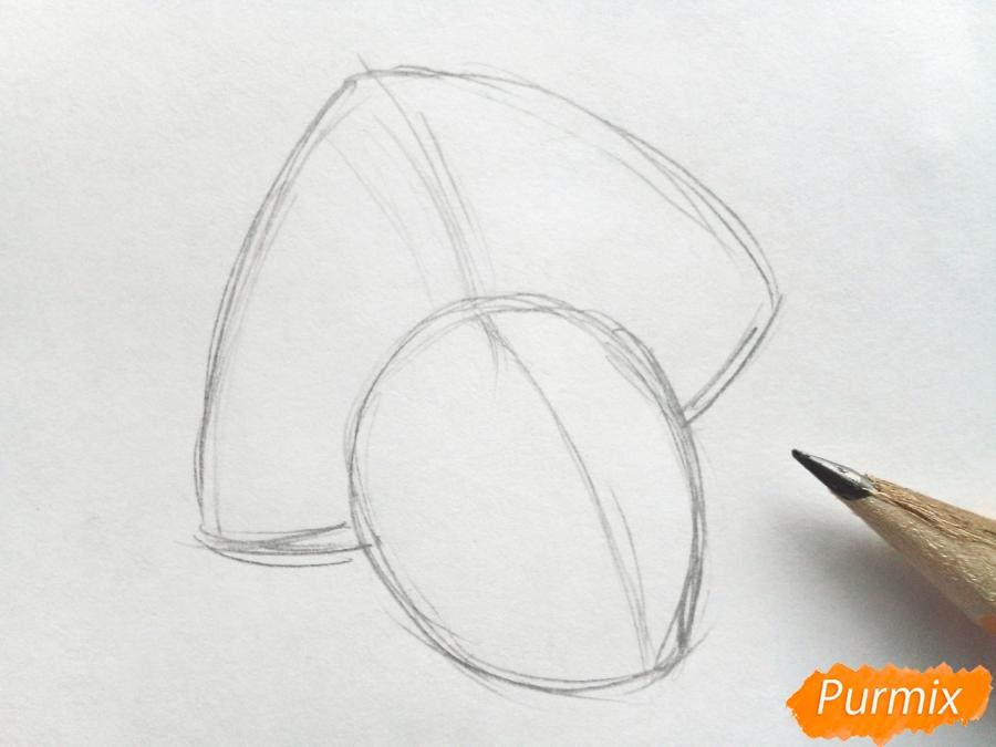 Рисуем лицо Снегурочки - шаг 1