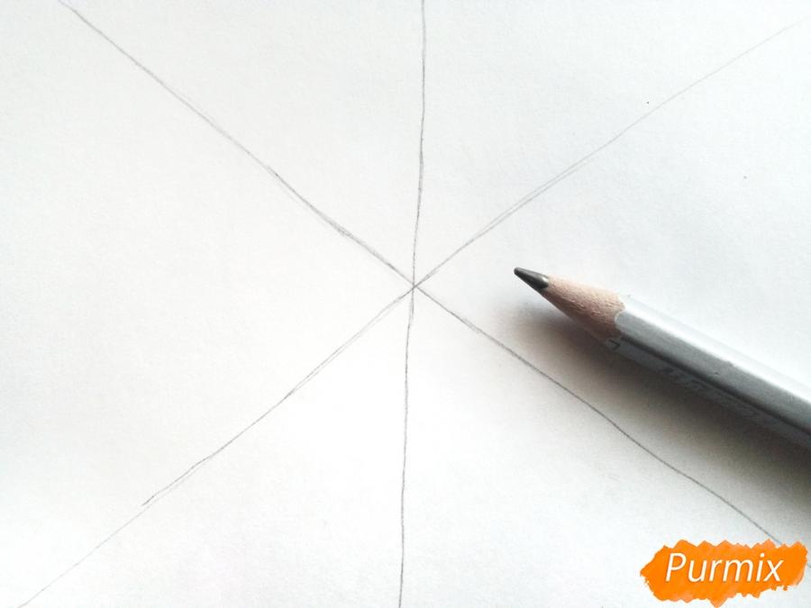Рисуем маленькую снежинку - шаг 1