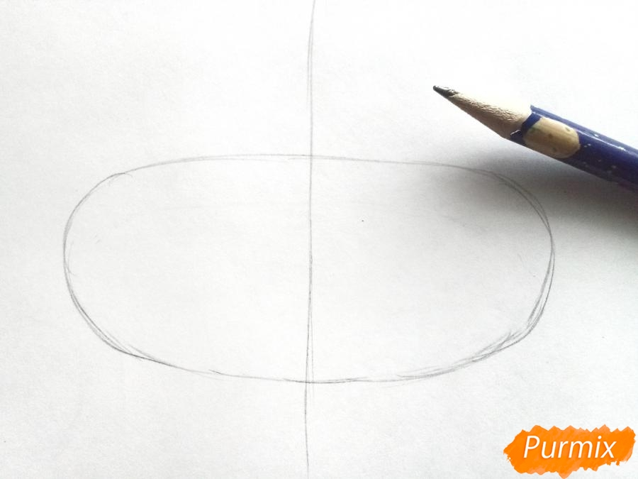 Рисуем маску лисицы на новый год - шаг 1