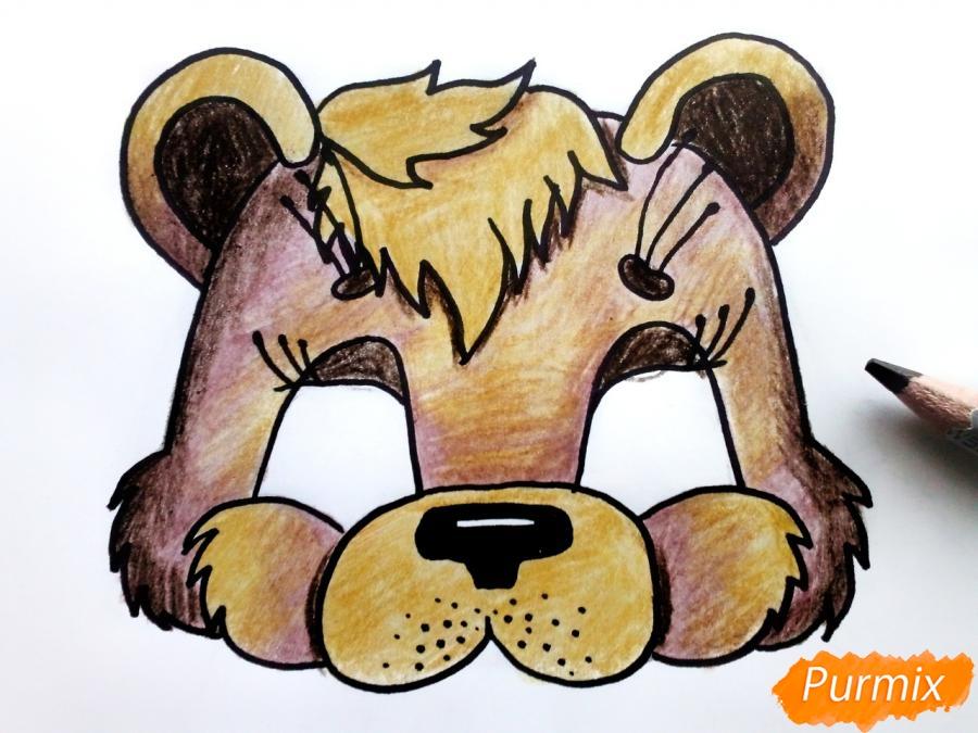 Рисуем маску медведя на новый год - шаг 7