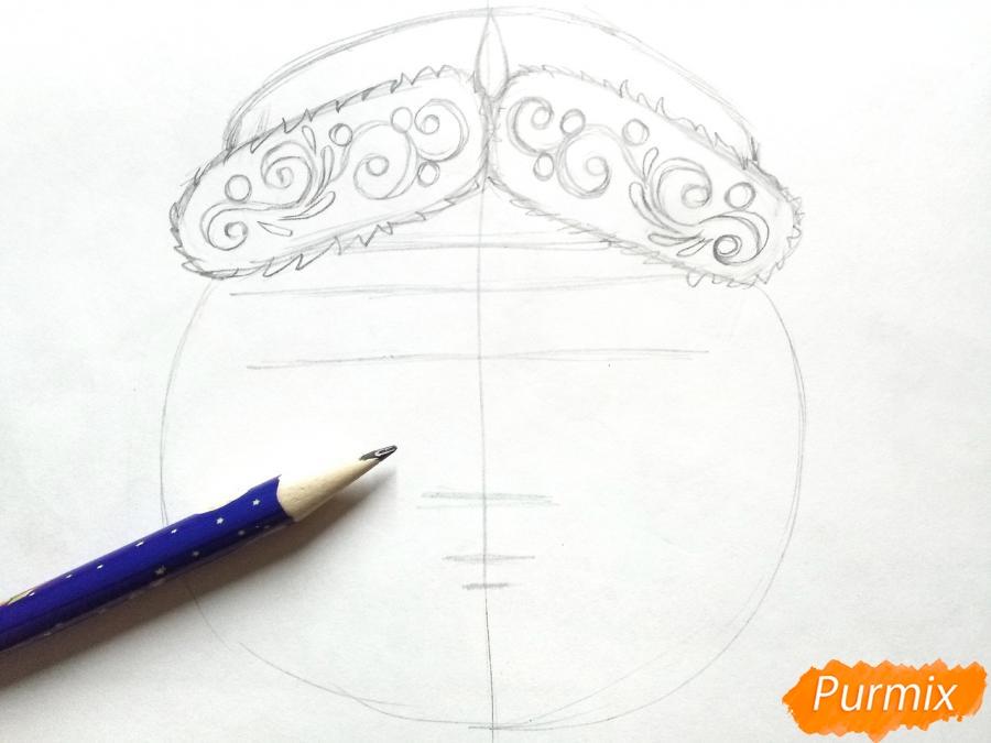Учимся рисовать новогодние маски - шаг 3