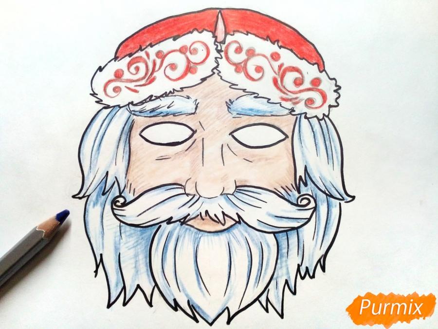 Учимся рисовать новогодние маски - шаг 8