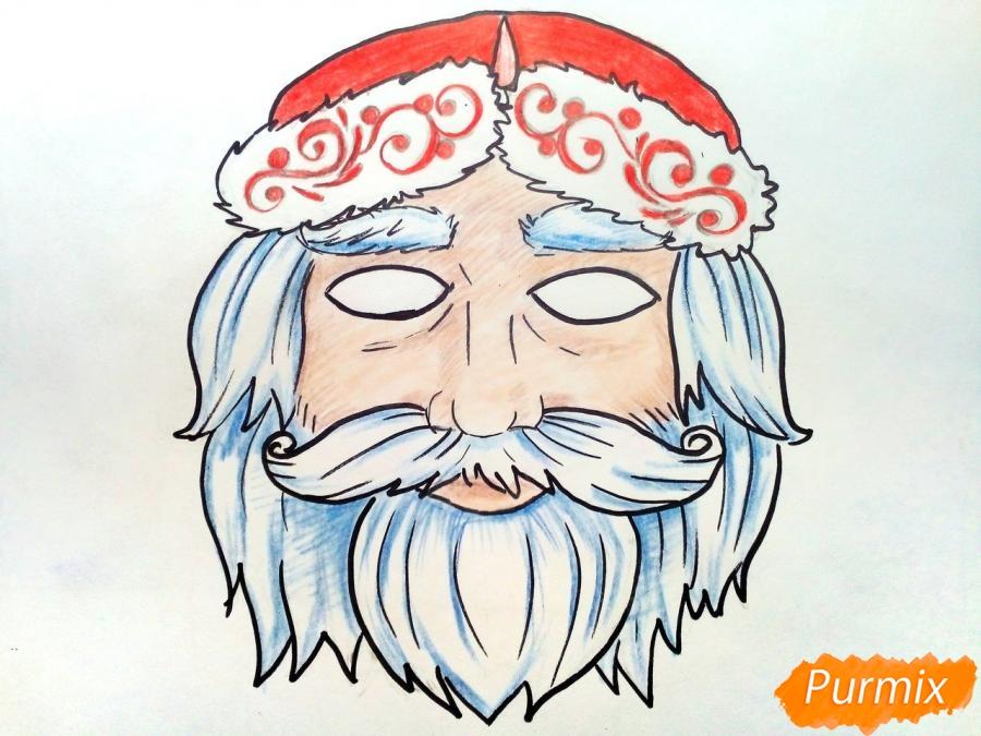 Учимся рисовать новогодние маски - шаг 9