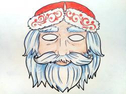 маску на новый год карандашом