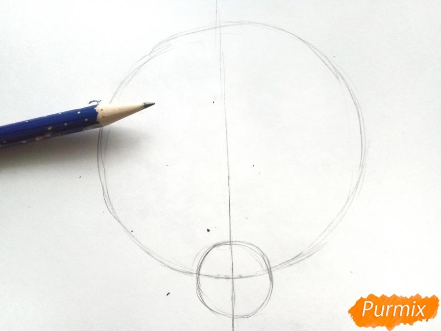 Рисуем маску оленя на новый год - шаг 1