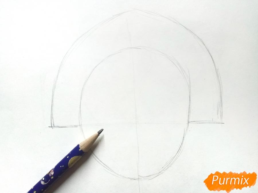 Рисуем маску Снегурочки - шаг 1