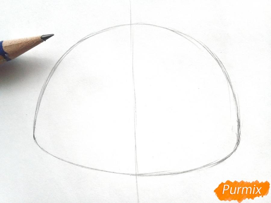 Рисуем маску зайца на новый год - шаг 1