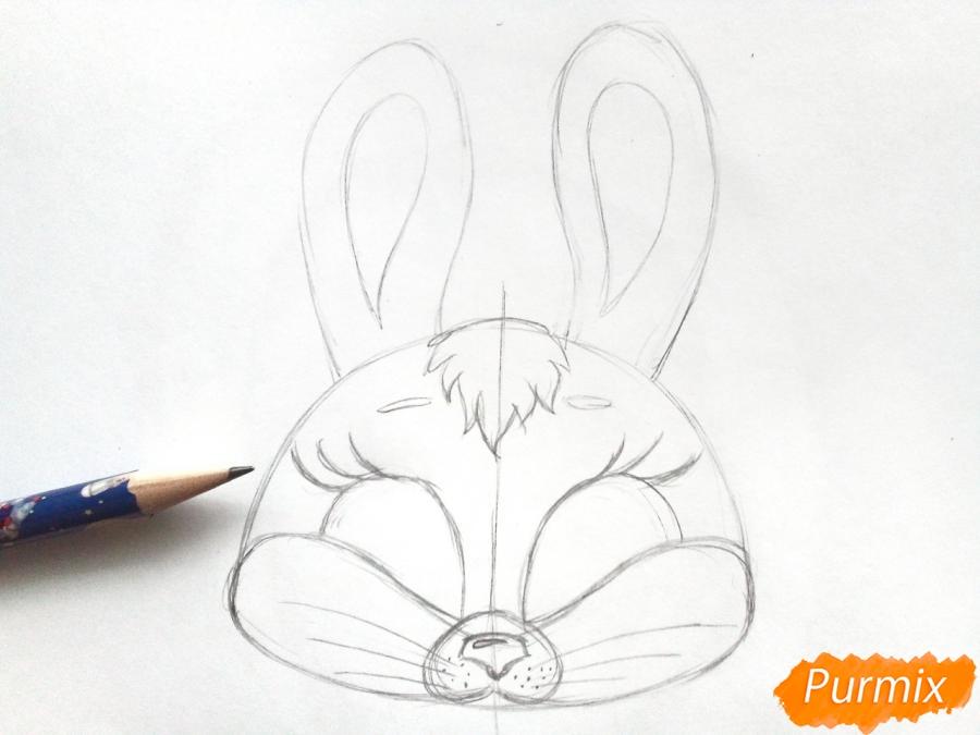 Рисуем маску зайца на новый год - шаг 4