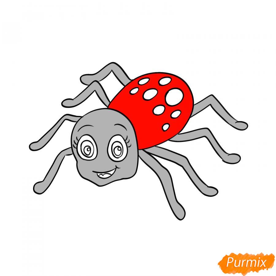 Рисуем милого паука на Хэллоуин - шаг 6