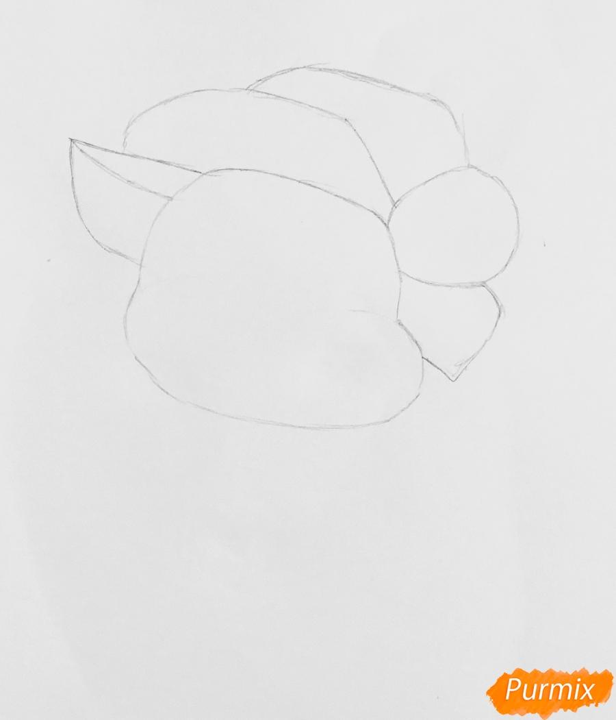 Рисуем милую новогоднюю свинку с открыт - шаг 2