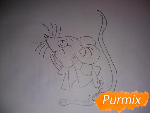 Рисуем мышь в красной кофте символ Нового Года - шаг 4