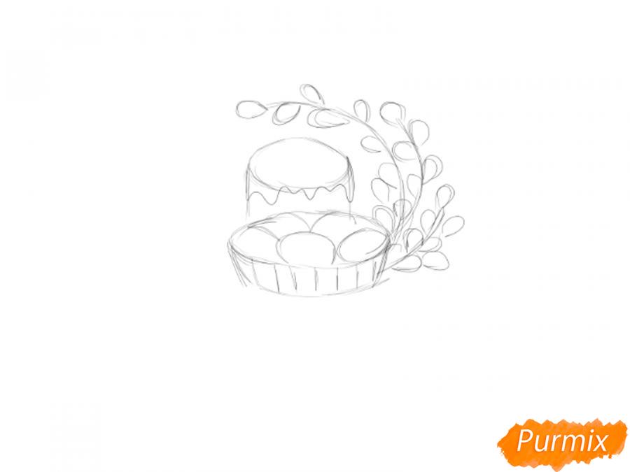 Рисуем натюрморт на Пасху - шаг 2
