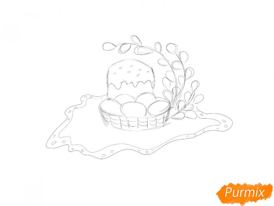 Рисуем натюрморт на Пасху - шаг 3