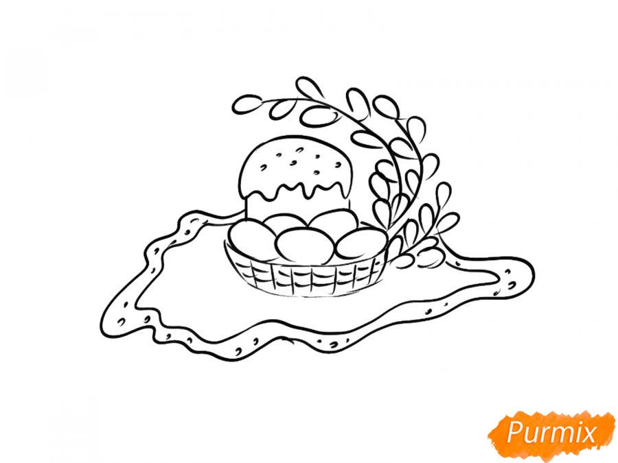 Рисуем натюрморт на Пасху - шаг 4