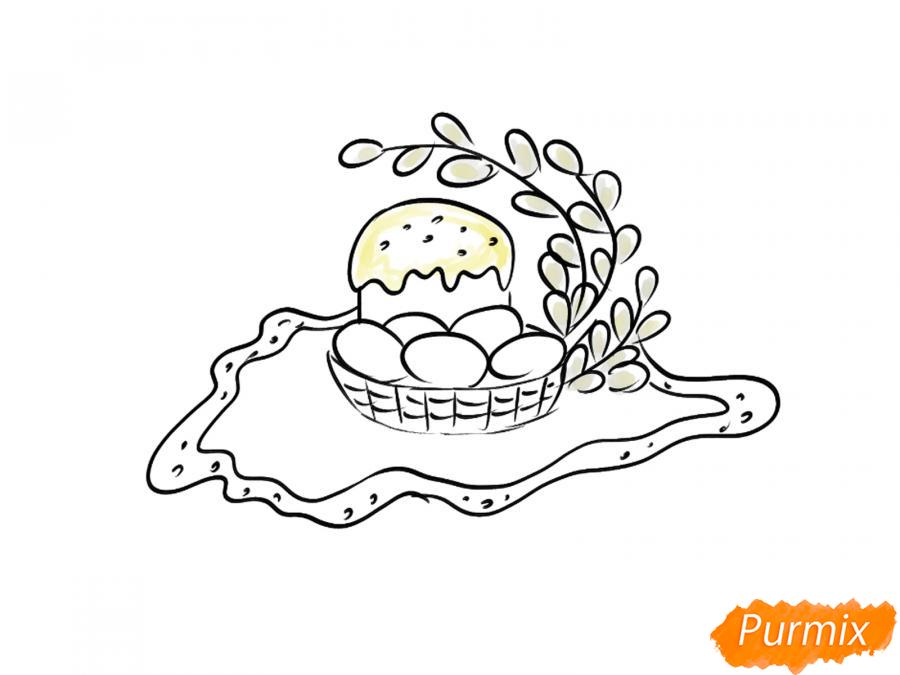 Рисуем натюрморт на Пасху - шаг 5