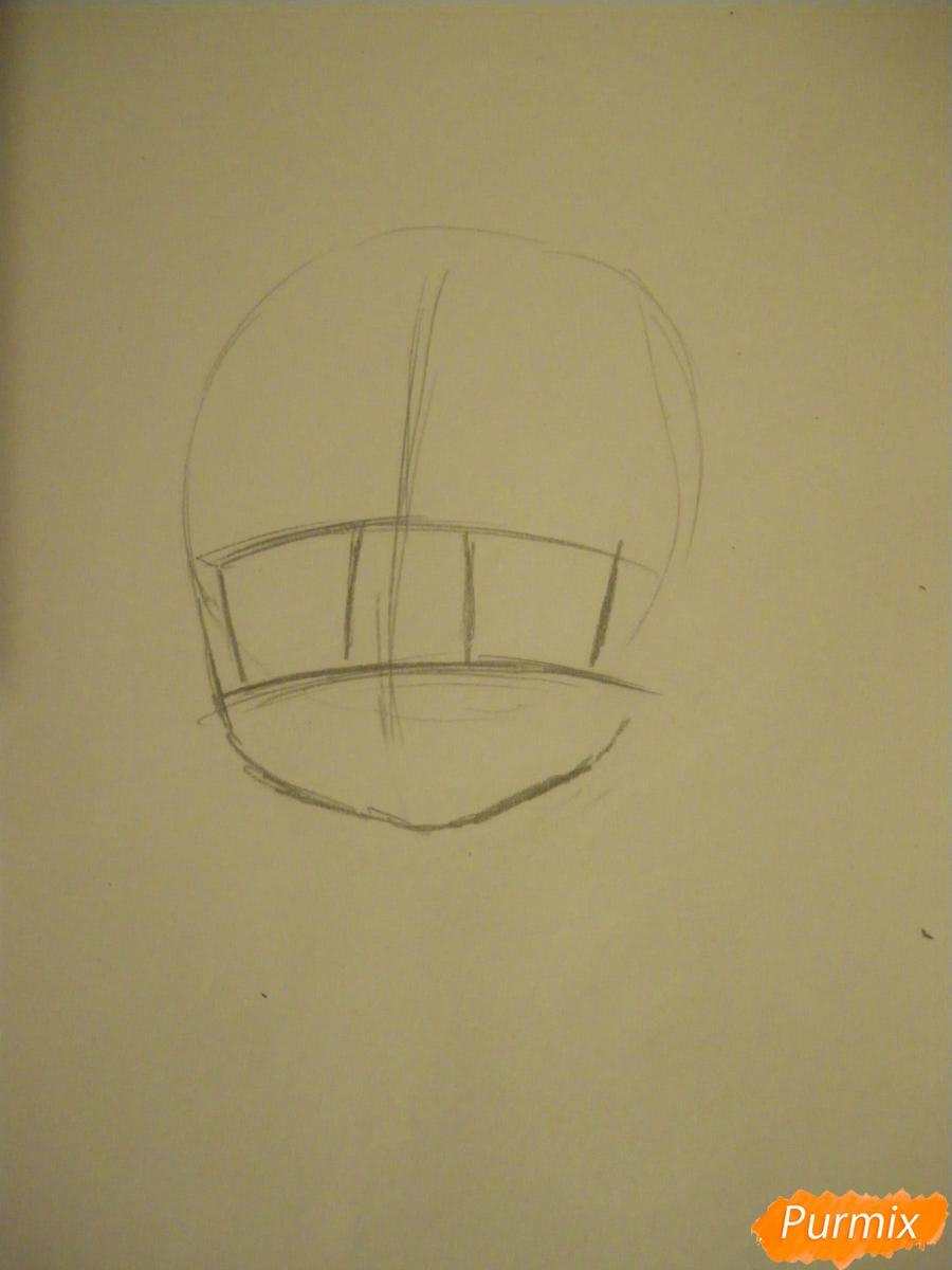 Рисуем новогоднюю чиби девочку в шапке деда мороза - шаг 1