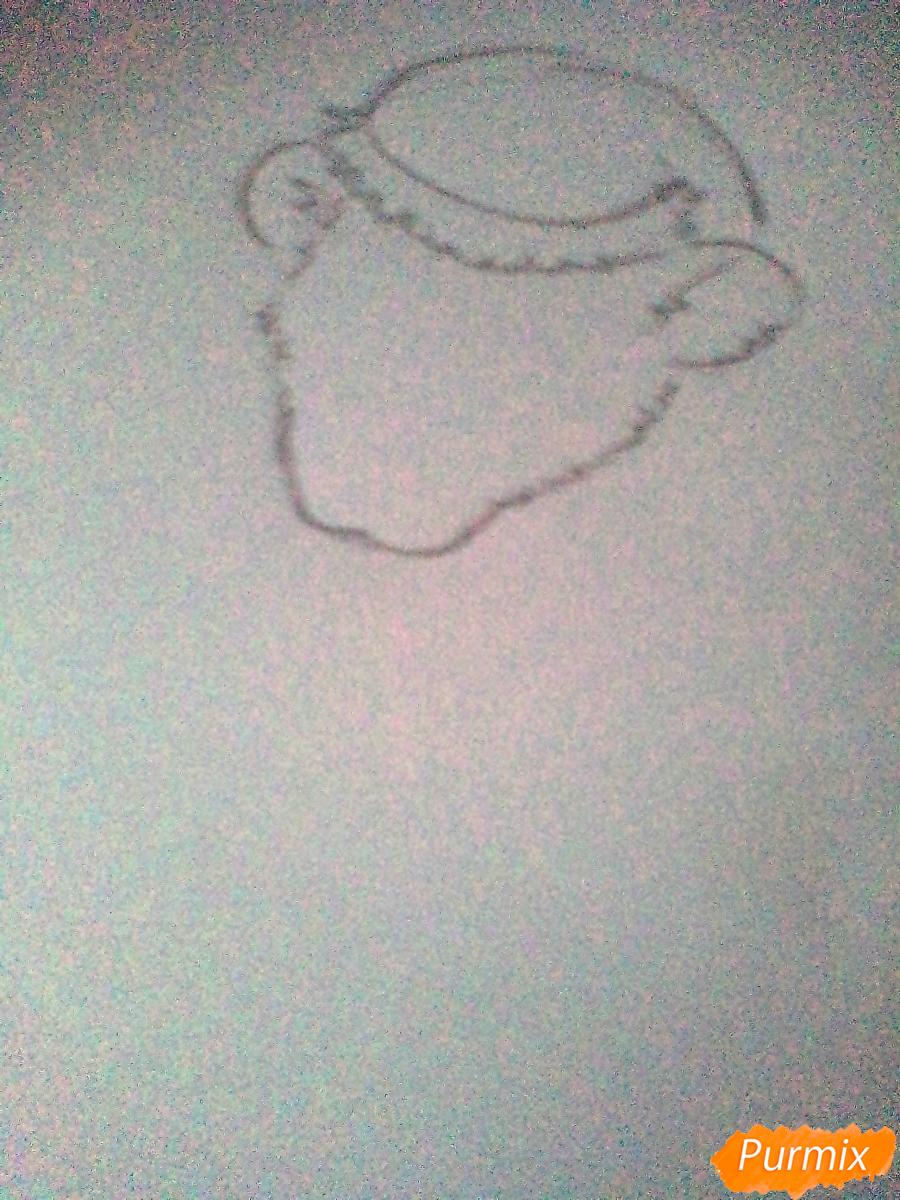 Рисуем новогоднюю крысу - шаг 1