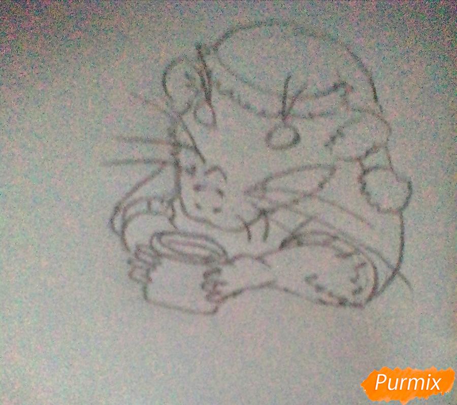 Рисуем новогоднюю крысу - шаг 2