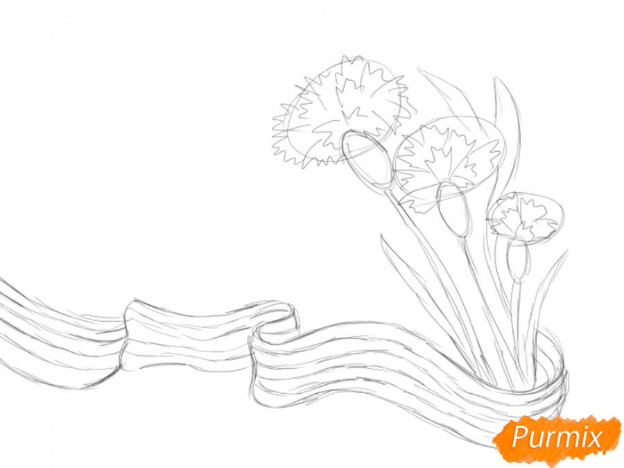 Рисуем открытку к 9 мая карандашами - шаг 4