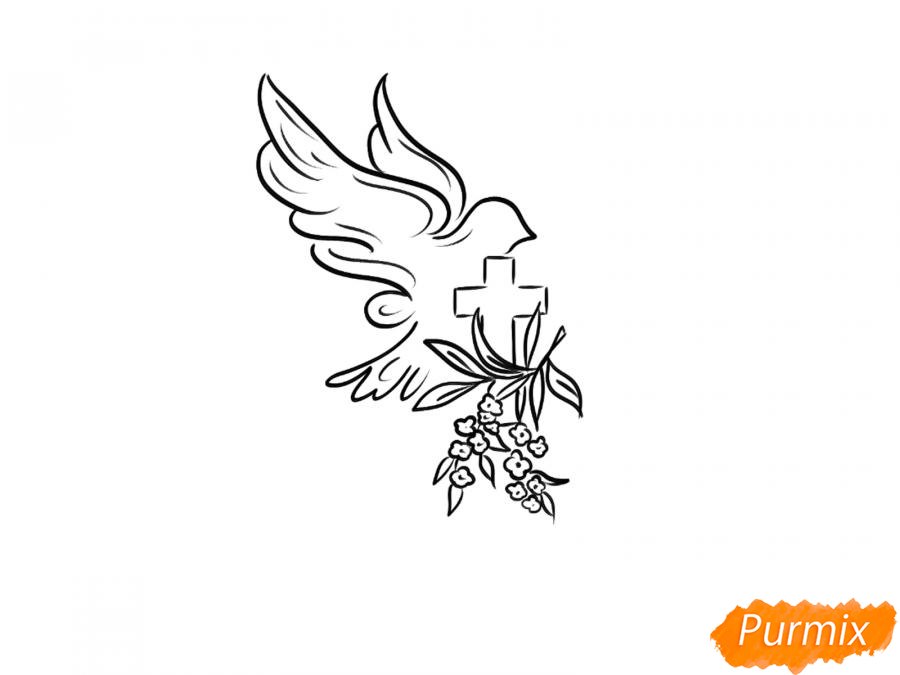 Рисуем открытку к празднику Пасхи карандашами или акварелью - шаг 2
