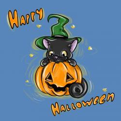 Фото открытку на Хэллоуин