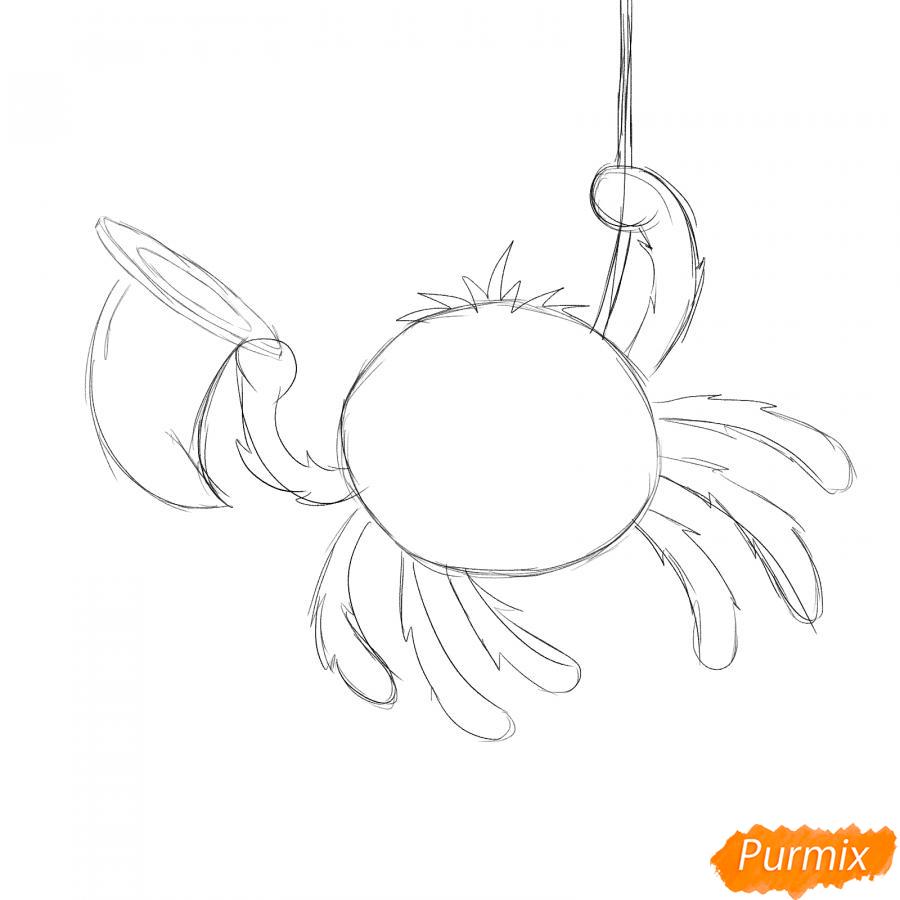 Рисуем паука с колпаком на Хэллоуин - шаг 3