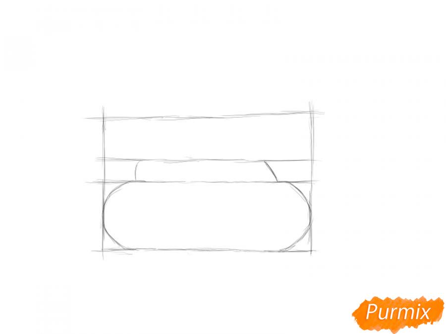 Рисуем простой танк ребенку на 9 мая - шаг 2