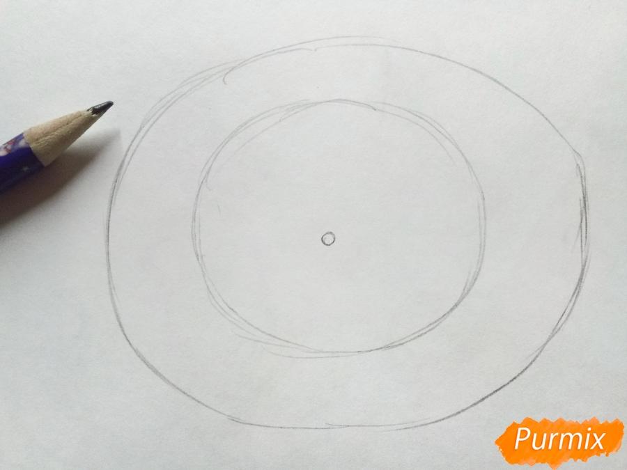 Рисуем салют, фейерверк - шаг 1