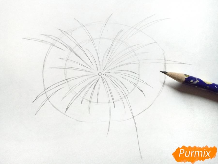 Рисуем салют, фейерверк - шаг 2
